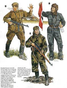 Armata Rossa - 1 Soldato di  Fanteria 2 Soldato Carrista - 3 Cecchino