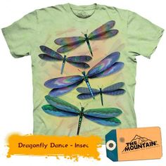 Tricouri The Mountain – Tricou Dragonfly Dance Dragons, Insects, Mountain, Dance, 3d, Mens Tops, T Shirt, Fashion, Dancing