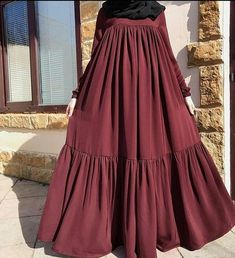 Moslem Fashion, Niqab Fashion, Modest Fashion, Skirt Fashion, Fashion Dresses, Hijab Outfit, Hijab Style Dress, Abaya Designs, Abaya Mode
