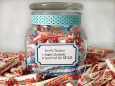 New #teacher #gift idea for back to school, teacher appreciation or last day of school!  Includes FREE printable label for your own by Mmorein14