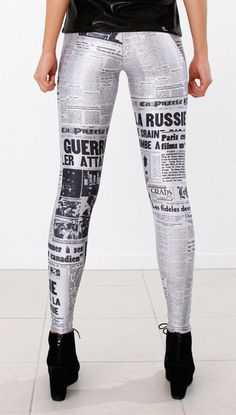 what in the world?!? there is some CRAZY stuff on pinterest... newspaper leggings.  really??