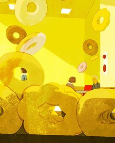 Illustration for Variation on a Theme by Mister Donut by David Mitchell. デビッドミッチェル著ミスタードーナツによる主題の変奏挿絵 #illustration #illustrator #tatsurokiuchi #art #drawing #life #lifestyle #happy #japan #people #girl #木内達朗 #イラスト #イラストレーション
