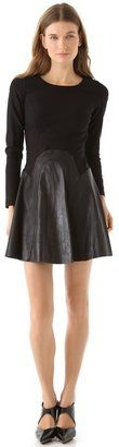Cynthia RowleyPonte Dress with #Leather  #corporatechic