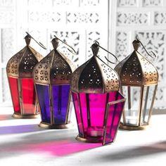 Moroccan style glass lantern