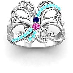 Glimmering Butterfly Ring #jewlr