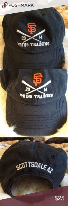 Spring training SF Giants baseball cap San Francisco giants Spring training  baseball cap 2014.  Slightly faded, maybe designed that way...adjustable back closure. Accessories Hats