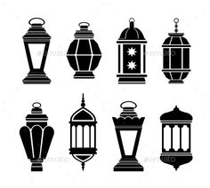 Illustration about Ramadan Kareem Arabic Lanterns. Illustration of fitr, bakra, decoration - 58863740 Ramadan Activities, Ramadan Crafts, Ramadan Lantern, Black Silhouette, Lanterns Decor, Free Vector Art, Islamic Art, Islamic Decor, Diy Paper