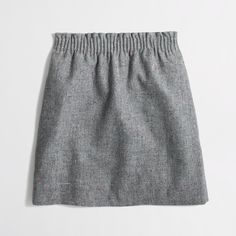 Factory pleated mini skirt in flecked wool : Mini & A-Line | J.Crew Factory I WANT THIS SKIRT SO MUCH!