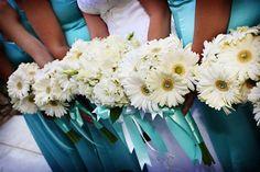 Blue Bouquet Summer Wedding Flowers Photos & Pictures - WeddingWire.com