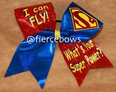 I Can Fly What's Your Superpower Cheer Bow by MyFierceBows on Etsy, $14.00