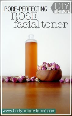 This DIY all-natural rose facial toner is a wonderful astringent while not too drying. Plus it smells heavenly!