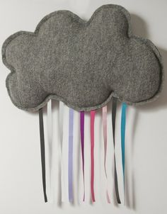 Would be cute to do with white clouds and rainbow ribbon, too!