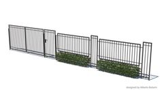 6 Tips on Caring for Your Iron Fence and Iron Gates - Fence Ideas - Gabion Fence, Fence Planters, Fencing, Exterior Wall Design, Fence Design, Split Rail Fence, Compound Wall, Boundary Walls, Sketchup Model