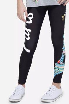 276258a94f06b2 Justice Girl's PARIS Full Length Leggings Size 16 NWT #justice Patterned  Leggings, Printed Leggings