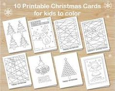 Bilderesultat for easy crafts and free printables for xmas cards for kids to make