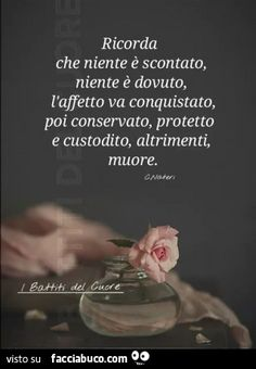 Niente è scontato Inspirational Phrases, Motivational Quotes, Richard Gere, Love The Lord, Cute Love, Meant To Be, Love Quotes, Friendship, Mindfulness