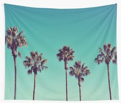 """California Palm Trees"" Wall Tapestries by LawsonImages 