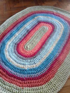 Alfombras tejidas a crochet con totora (orillos de tela) Personalizadas (se hacen del tamaño y colores que vos quieras) Decorativas Fáciles de lavar (...