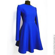 Купить Платье - тёмно-синий, серый, платье, платье летнее, Платье нарядное, короткое платье