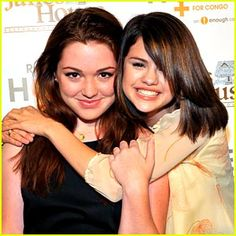 Selena Gomez snuggles up to BFF costar Jennifer Stone as they arrive at the Raise Hope for the Congo event . Jennifer Stone, Wizards Of Waverly Place, Marie Gomez, Best Friends Forever, Disney Channel, Beauty Queens, Congo, Selena Gomez, Over The Years