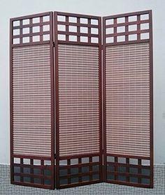 Legacy Decor 3 Panel Solid Wood Screen Room Divider Dark Http
