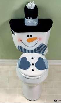 snowman toilet