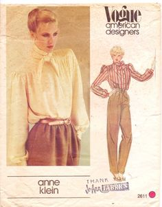 Vintage 80s Vogue American Designer Sewing Pattern by CloesCloset