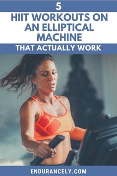 An elliptical machine is a great way to get a no-impact cardio workout, but adding intervals makes your routine more efficient, so you can get fit, lose weight, or built stamina in less time. Discover the best HIIT exercises designed to be used on an elliptical machine to help get the most from your elliptical machine workouts. #hiit #workouts #endurancely Hiit Elliptical, Eliptical Hiit Workout, Elliptical Machines, Tabata, Hiit Workout At Home, Workouts Hiit, Hiit Workouts With Weights, Beginner Cardio Workout, Body Workouts