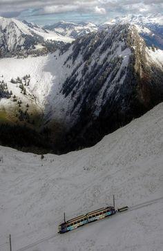 Rochers de naye (mountain) train, Swiss Alps