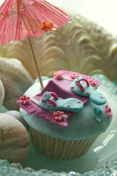 Flip flop cupcake