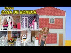 Tutorial como fazer uma casa de boneca de papel o para barbie monster high frozen eah eg - Casa de monster high ...