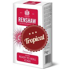 Tropical Fondant von Renshaw! Tropical Fondant bleibt auch bei höheren Temperaturen elastisch und gibt keine Feuchtigkeit ab. #Fondant #Tropical