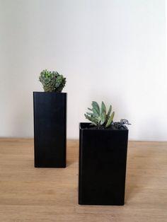 Jardinière de table en acier, rectangluar cuboïde