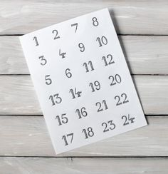 Adventskalenderzahlen - 24 Adventskalenderzahlen Aufkleber rund - ein Designerstück von lumilarie bei DaWanda