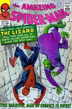 El Lagarto, The Lizard, enemigo clásico de Spiderman.