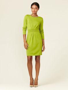 Fern Pleated Wool Knit Dress by Tahari ASL on Gilt.com