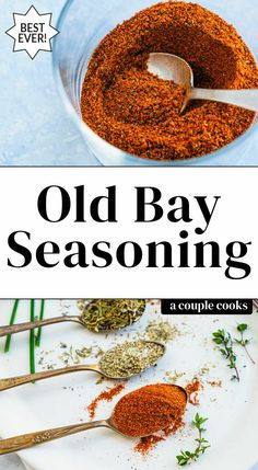 Here's how to make Old Bay seasoning! This easy homemade recipe replicates the flavor of this secret blend of spices. Perfect on seafood and vegetables. Homemade Old Bay Seasoning Recipe, Homemade Dry Mixes, Homemade Spice Blends, Easy Homemade Recipes, Homemade Spices, Homemade Seasonings, Spice Mixes, Seafood Seasoning, Seasoning Mixes