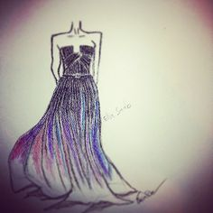 Fashion illustration ellie saab