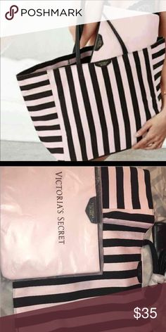 Victoria Secret Weekender tote/matching pouch NWT RETAIL $99 Victoria's Secret Bags Totes