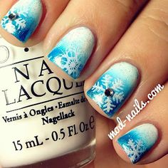 ModNails: SNOWFLAKE WINTER NAILS