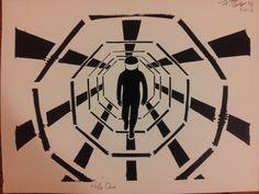 Hello Dave  2001 A Space Odyssey Stencil Print by TuesdaysDusk, $20.00