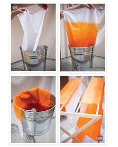 dip dyed napkins