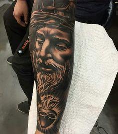 Tattoo done by: Adrian Lazaro #jesus #jesucristo #tattoo
