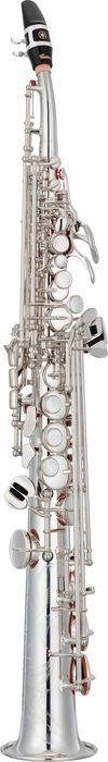 Woodwind Instruments - carosta.com - Yamaha Custom YSS-82Z Series Professional Soprano Saxophone with Curved Neck Silver Plated