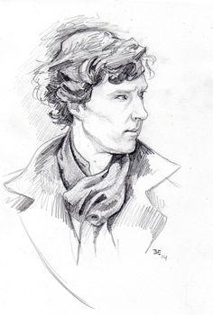 Sherlock (Benedict Cumberbatch) Pencil. February 2014
