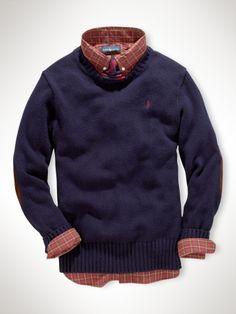 Elbow-Patch Sweater - Boys 8-20 Sweaters - RalphLauren.com
