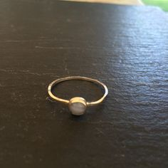 Sterling silver ring with blue lace agate setting. by GGsGems16, $28.00