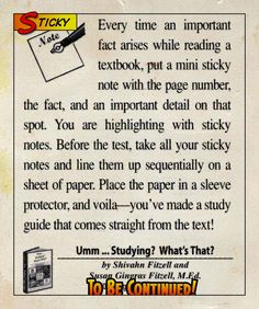 Sticky note note-taking tips