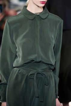 Creatures Of Comfort at New York Fall 2014 (Details) /// simple down button shirt in AMAZING GREEN!!!