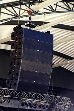 Don't care a bit about the line array, I'm in it for the rigging...mmmm, chain hoist...
